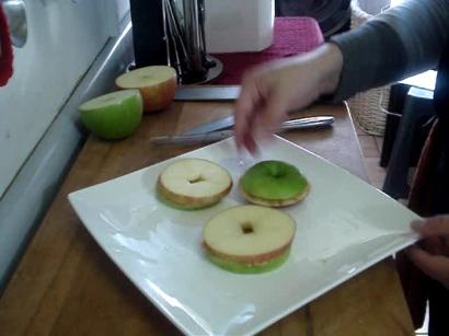 sandwich de manzana