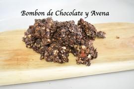 Bombon de chocolate y avena